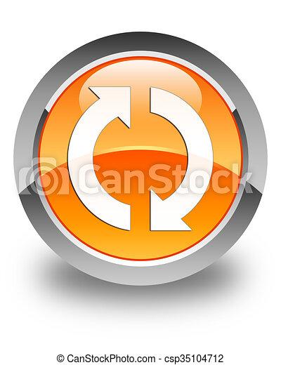 Update icon glossy orange round button 2 - csp35104712