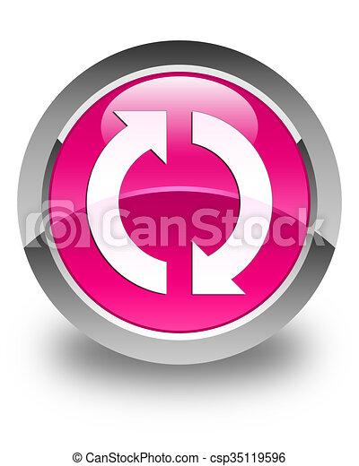 Update icon glossy pink round button - csp35119596
