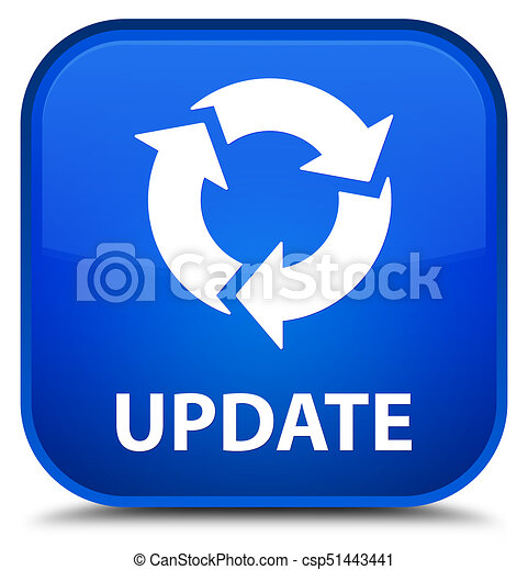 Update (refresh icon) special blue square button - csp51443441