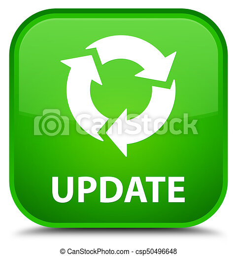 Update (refresh icon) special green square button - csp50496648