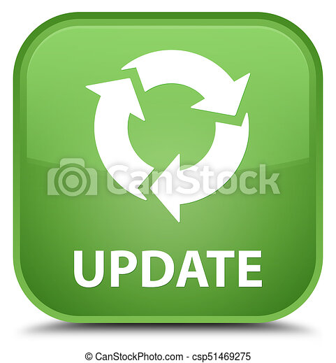 Update (refresh icon) special soft green square button - csp51469275