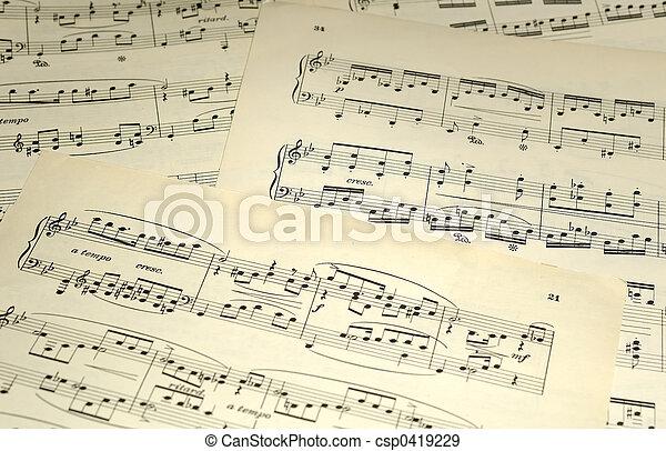 upevnit hudba - csp0419229
