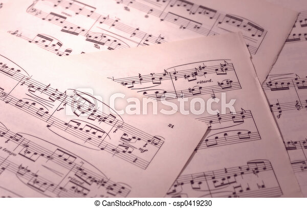 upevnit hudba - csp0419230
