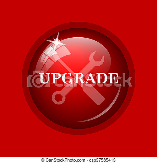 Upgrade Icon Internet Button On Red Background