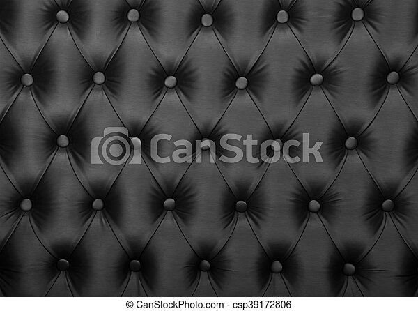 upholstery, tecido, tufted, capitone, textura, pretas - csp39172806