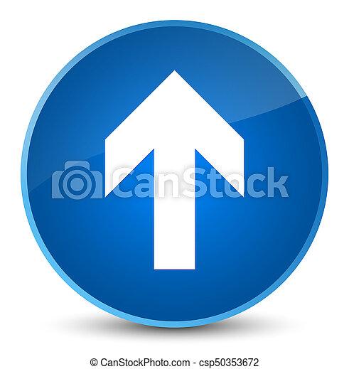 Upload arrow icon elegant blue round button - csp50353672