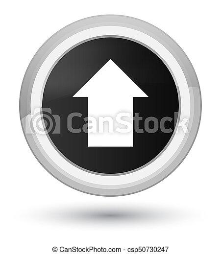 Upload arrow icon prime black round button - csp50730247