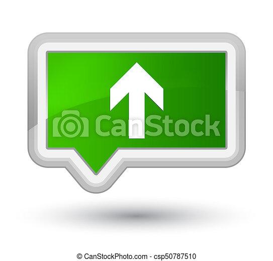 Upload arrow icon prime green banner button - csp50787510