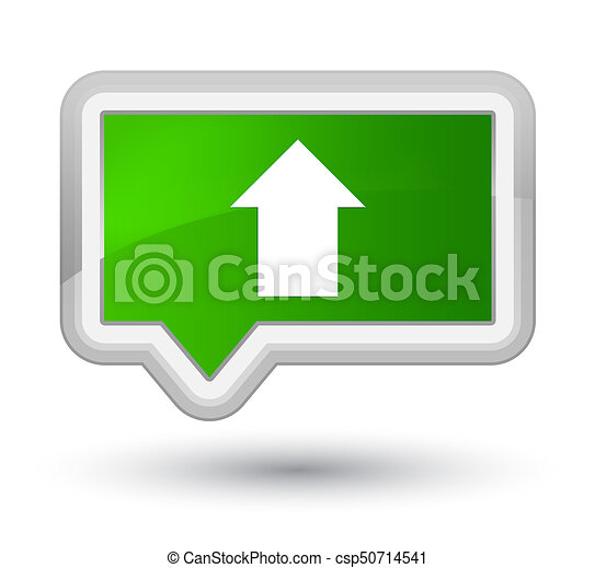 Upload arrow icon prime green banner button - csp50714541