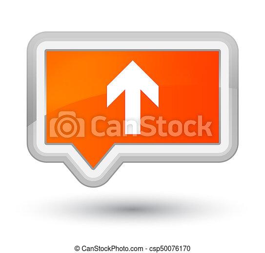 Upload arrow icon prime orange banner button - csp50076170
