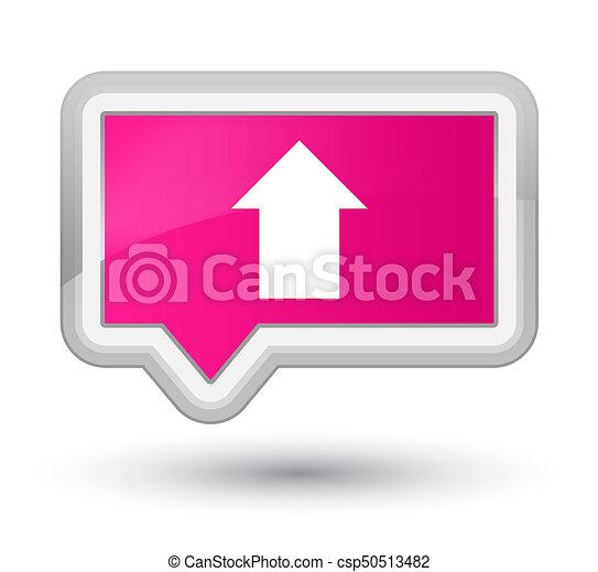 Upload arrow icon prime pink banner button - csp50513482