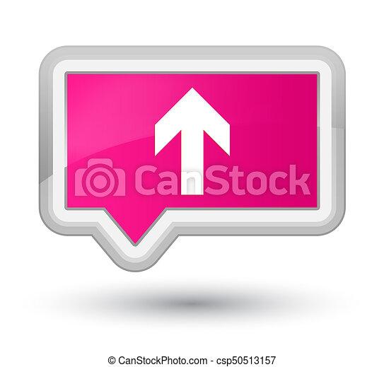 Upload arrow icon prime pink banner button - csp50513157