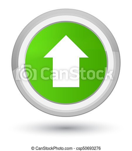 Upload arrow icon prime soft green round button - csp50693276