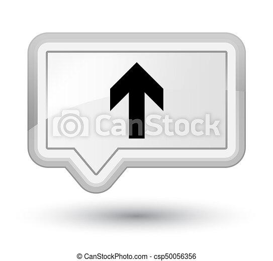 Upload arrow icon prime white banner button - csp50056356