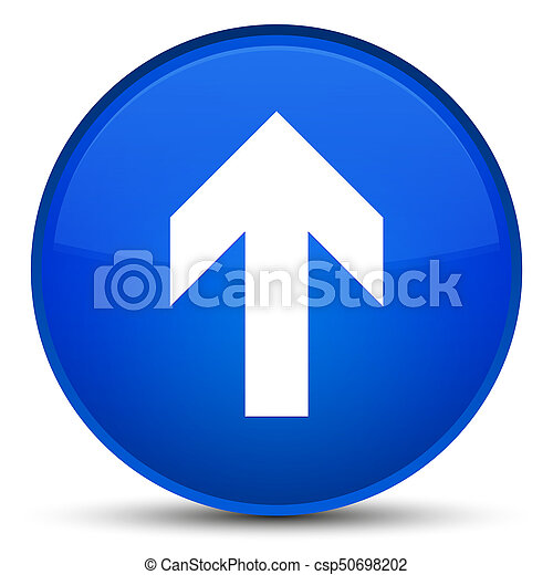 Upload arrow icon special blue round button - csp50698202