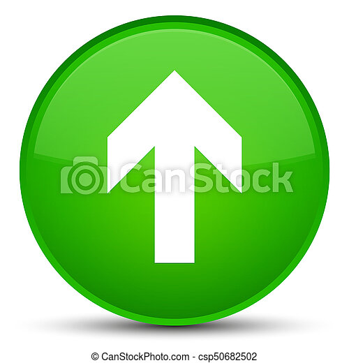 Upload arrow icon special green round button - csp50682502