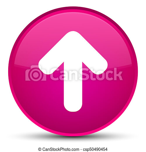 Upload arrow icon special pink round button - csp50490454