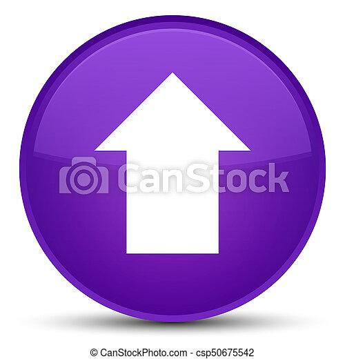 Upload arrow icon special purple round button - csp50675542
