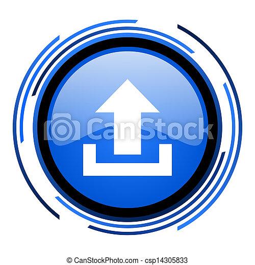 upload circle blue glossy icon - csp14305833