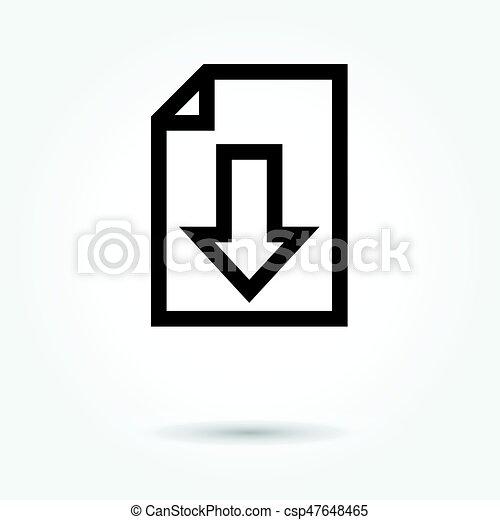 Upload File icon, modern design web element on white background. logo - csp47648465