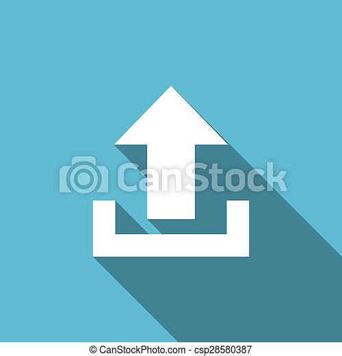 upload flat icon - csp28580387