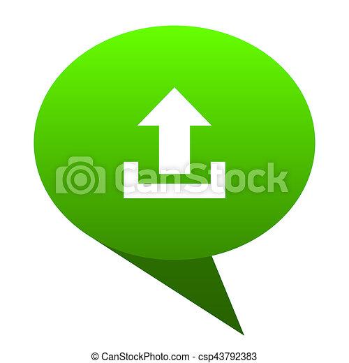 upload green bubble icon - csp43792383
