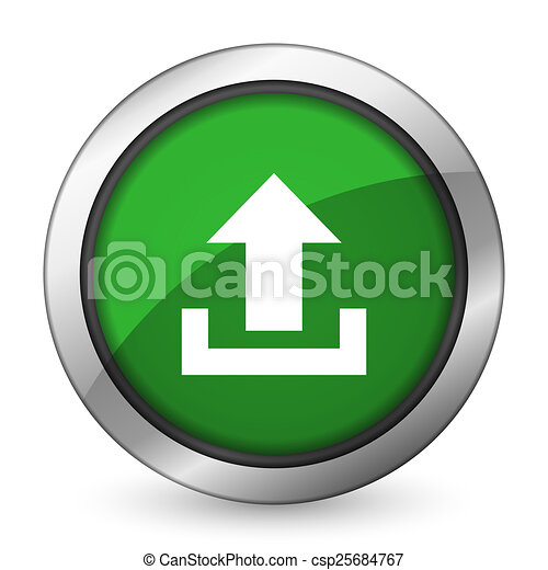 upload green icon - csp25684767