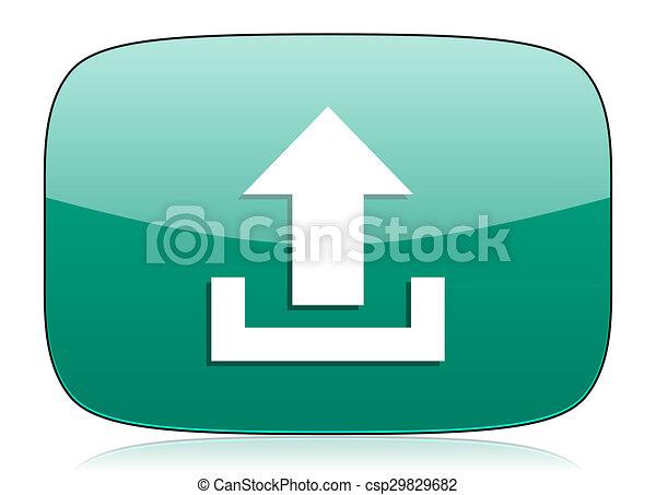 upload green icon - csp29829682
