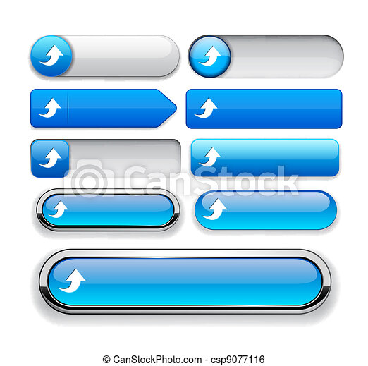Upload high-detailed web button collection. - csp9077116