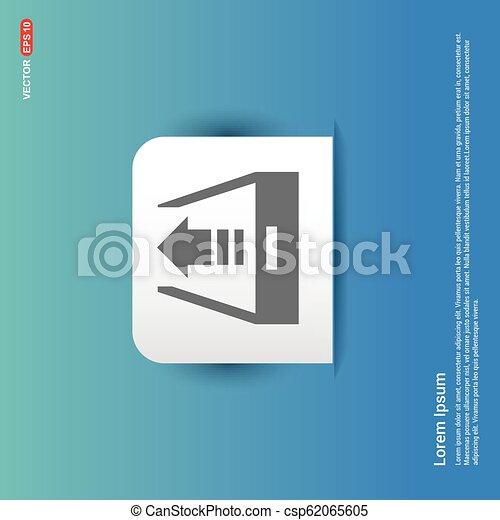 Upload icon. - Blue Sticker button - csp62065605
