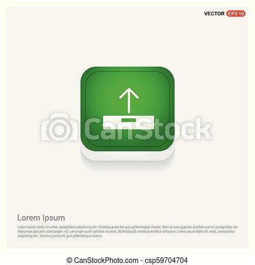 Upload icon. Green Web Button - csp59704704