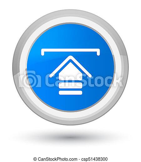 Upload icon prime cyan blue round button - csp51438300