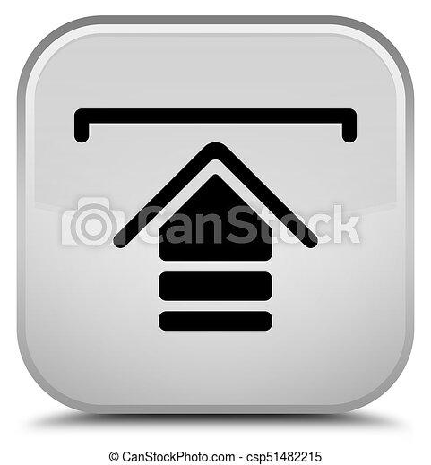 Upload icon special white square button - csp51482215