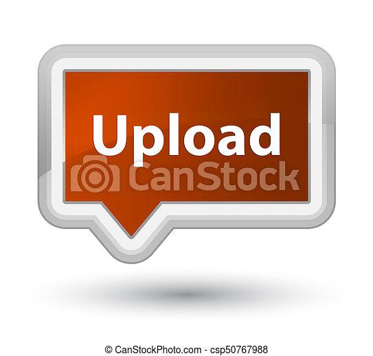 Upload prime brown banner button - csp50767988