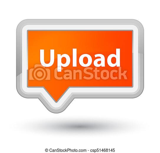 Upload prime orange banner button - csp51468145
