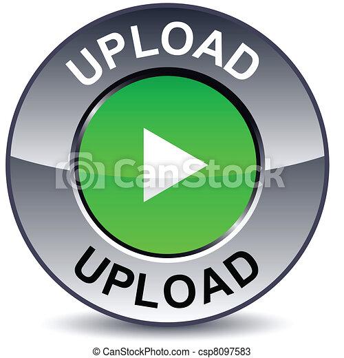 Upload round button. - csp8097583