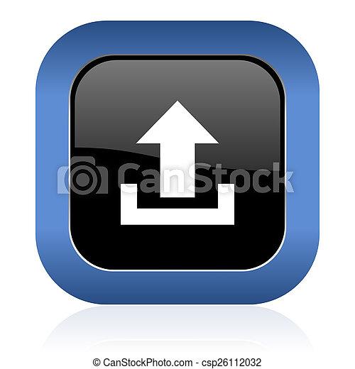 upload square glossy icon - csp26112032