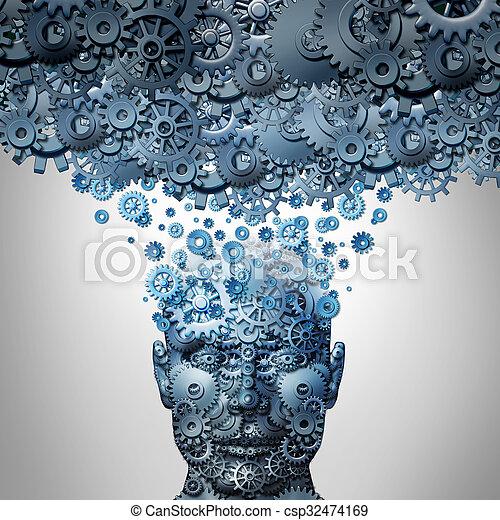 Upload Your Mind - csp32474169