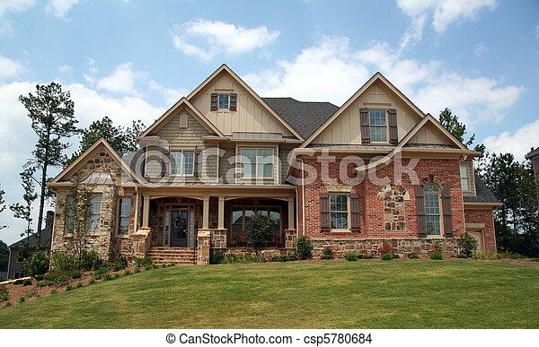 Upper class luxury home - csp5780684
