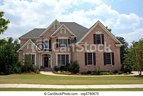 Upper class luxury home - csp5780670