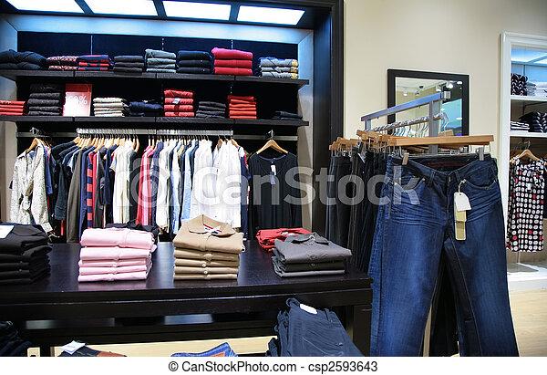 upper clothes in shop 2 - csp2593643