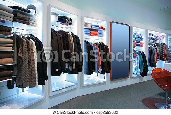 upper clothes in shop - csp2593632