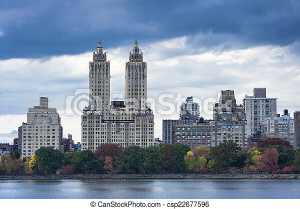 Upper West Side Skyline from Central Park, New York City - csp22677596
