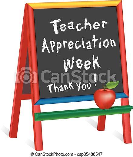uppskattning, staffli, lärare, vecka - csp35488547