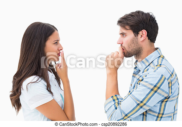 Upset young couple not talking - csp20892286