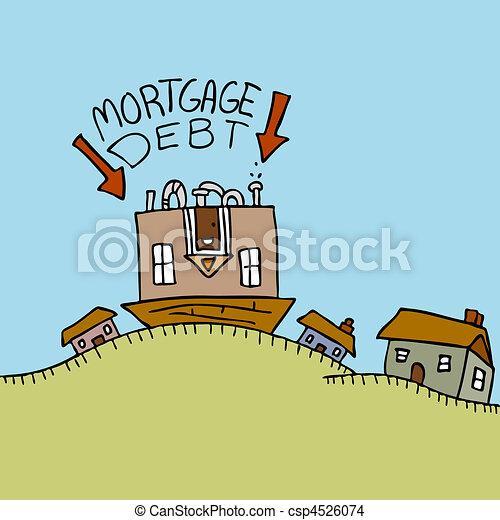 Upside Down Mortgage Debt - csp4526074