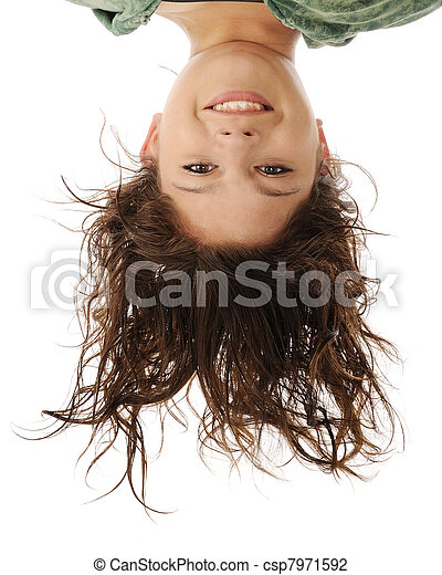 Upside-Down Portrait - csp7971592