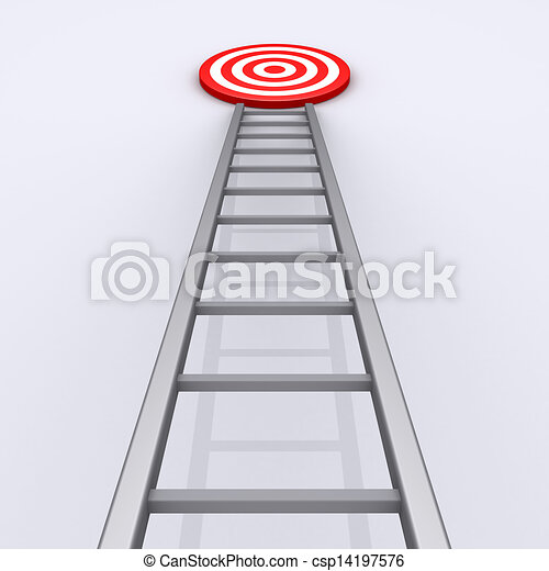 Upwards is the way to success - csp14197576