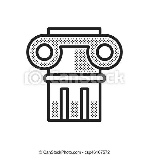 uralt, spalten, ikone - csp46167572