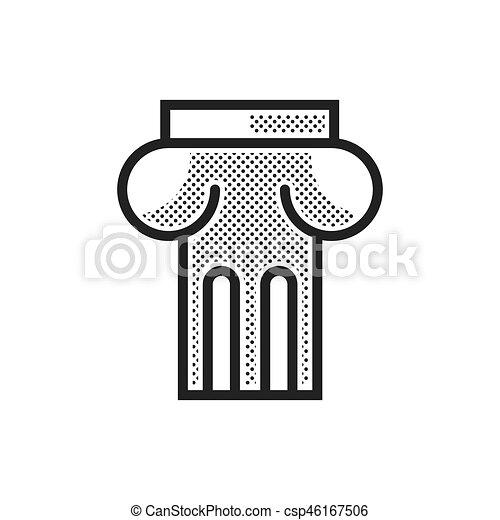 Alte Säulen-Ikone - csp46167506